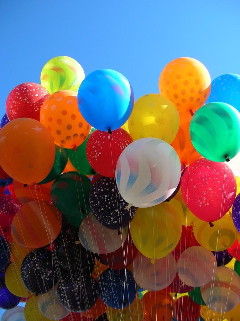 Для открытки, воздушные шары фото картинки